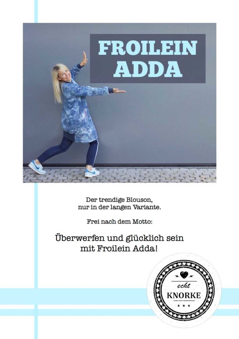 Froilein Adda Schnittmuster Ebook Cover